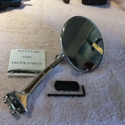 LEFT LONG ARM VINTAGE STYLE SIDE VIEW MIRRORS ! NEW PAIR OF RIGHT