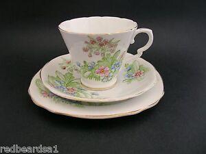 Royal-Stafford-English-Vintage-Bone-China-Trio-Tea-Cup-Saucer-Plate-Primula