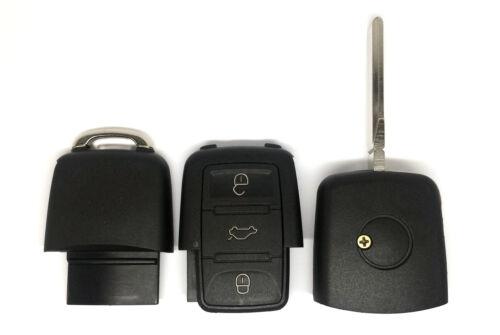 3Tasten Ersatz Klappschlüssel Funkschlüssel für VW SKODA SEAT Batterie