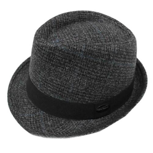 Cappello uomo 90/% POLIESTERE modello trilby LAURA BIAGIOTTI TG.58 21054 nero
