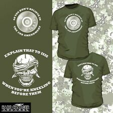 2nd Amendment Right to bear Arms Assault rifle Military Firearms NRA shirt