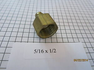 5-16-034-Flare-x-1-2-034-Female-Pipe-Fitting-Female-Coupling-Adapter-Flare-by-FIP-New