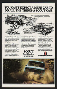 ANYTHING LESS IS JUST A CAR 1979 INTERNATIONAL SCOUT 4X4 SUV VINTAGE AD