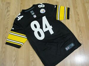 buy online 3ee2c a0e6a Details about NIKE On Field #84 Pittsburgh Steelers Antonio Brown Jersey Sz  Small Football