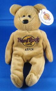 Hard Rock Cafe US City Isaac Beara Plush Stuffed Beanie Bear 2000
