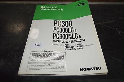 B485 Komatsu Betriebs Und Wartungsanleitung Für Pc300 Nlc-5 Hydr.-bag. Lc-5
