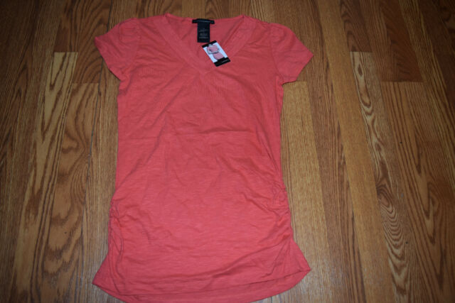 75ec4f0eb75 Grace Elements Ladies Size Small Short Sleeve V-neck Knit Top Coral Kiss