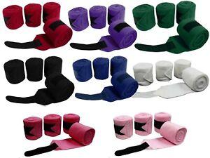 Derby-Originals-Fleece-Pferd-Polo-Wraps-4-Set-Bandagen
