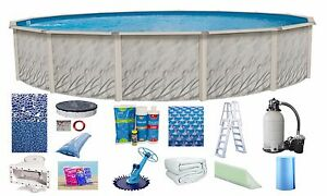 Above Ground 24x52 Quot Round Meadow Swimming Pool W Cracked