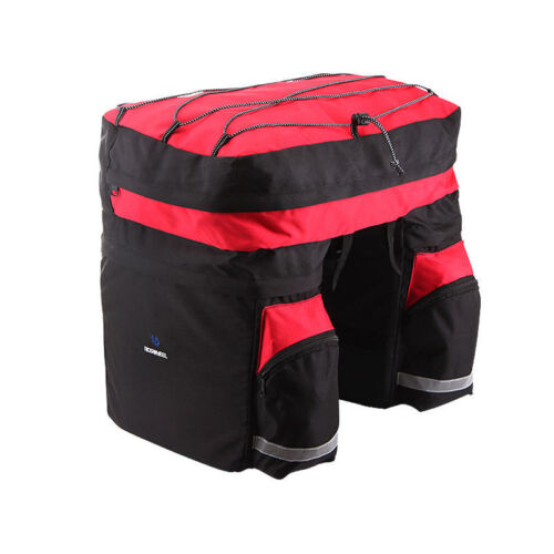 60L Bike Bicycle Cycling Saddle Trunk Bag Double Side Rear Seat Rack Pannier NEW