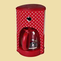 Efbe Schott Kalorik Glaskrug-kaffeemaschine Cm 1008 Rwd Rot Mit Weissen Punkten