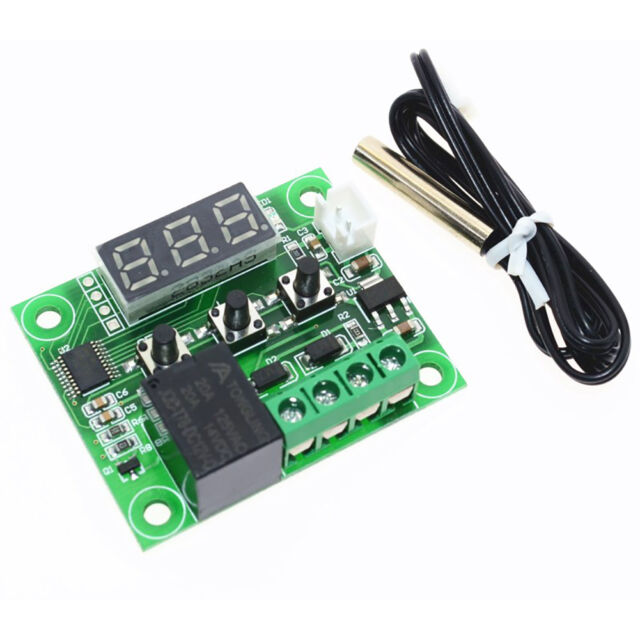 12v digital thermostat temperature sensor relay switch on off rh ebay com Basic Relay Circuit Latching Relay Circuit