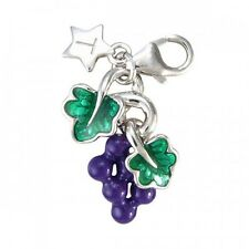 TINGLE LONDON GRAPES SILVER CHARM, New, Bracelet Charms, SCH58, Jewellery, Boxed