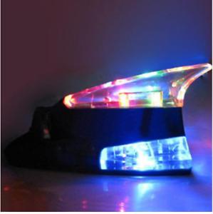 Shark-Dummy-Display-Antenna-LED-Color-Powered-ByTurbo-Wind-Power-White