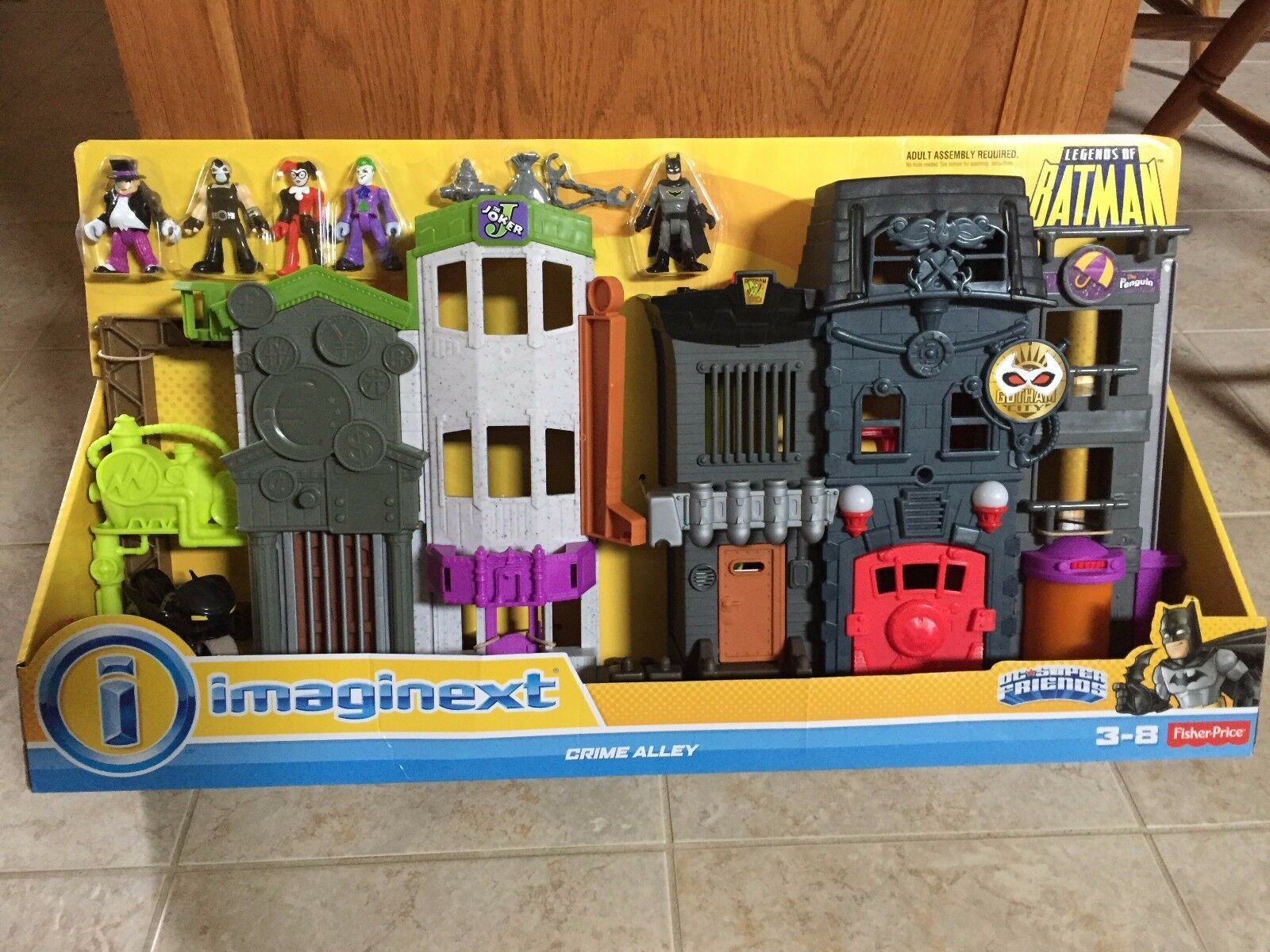 Fisher Price Imaginext Legends of of of Batman Crime Alley 5 Figure Set Gotham City eff87b