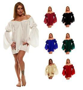 Long Chemise Renaissance Peasant Blouse Costume Dress Up Ren Faire