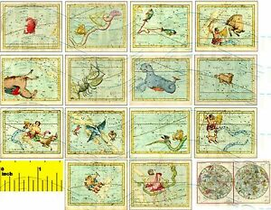 DOLLSHOUSE-Mini-Fun-Vintage-Celestial-Map-Print-Set-CDHM-1-12