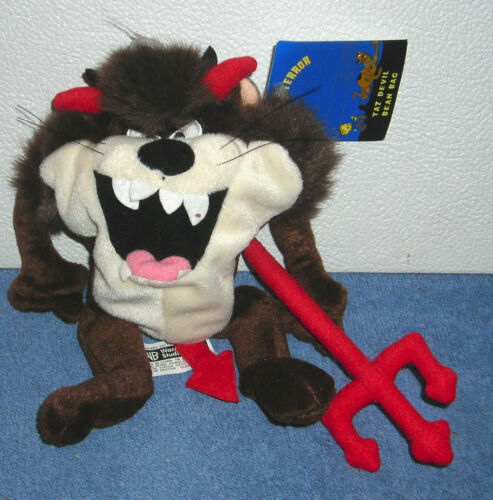 "WARNER BROTHERS STUDIO STORE TAZ TASMANIAN DEVIL HALLOWEEN 8"" PLUSH BEAN BAG"