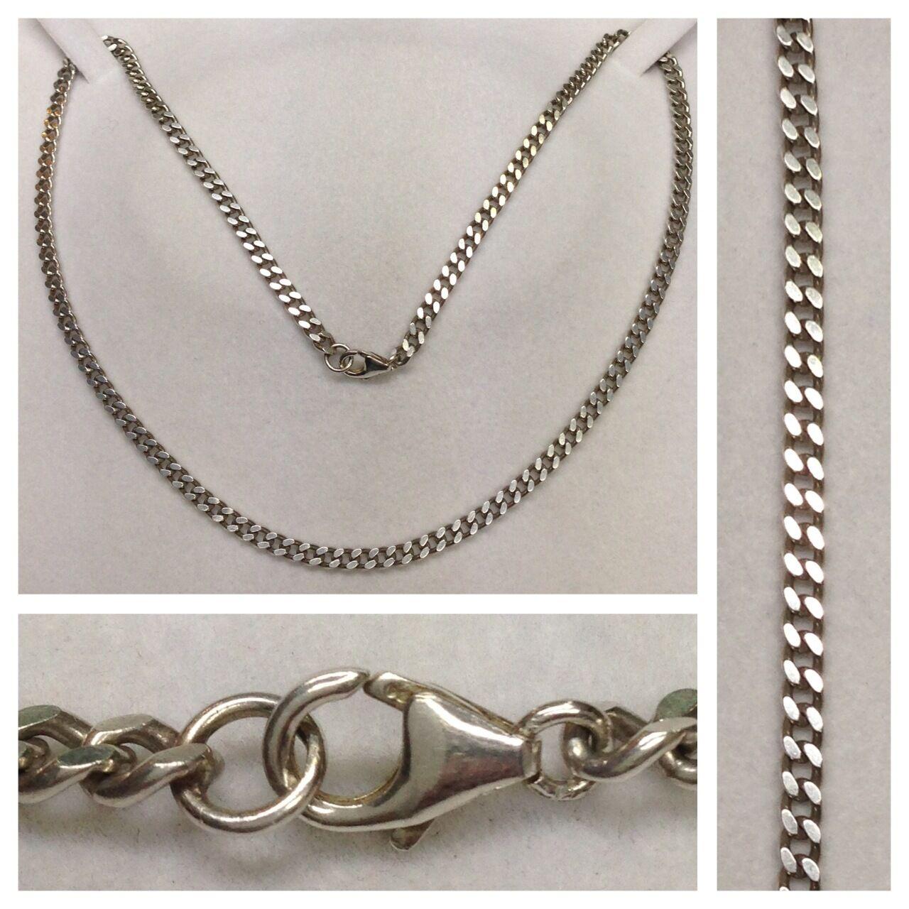 Largeur collier gourmette 925 en silver chaîne bijoux