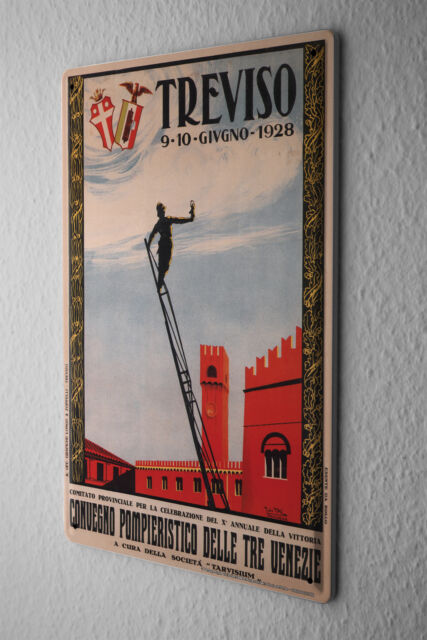Tin Sign City Treviso Italy