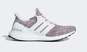 best service 676c3 ac50a Details about NEW adidas ULTRABOOST Running SHOES cm8111 Rainbow / WHITE /  COLLEGIATE NAVY c1