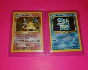 Charizard-amp-Blastoise-Pokemon-Cards-Original-Rare-Holos-Base-Set-Foils