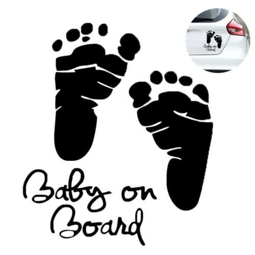 Hot Car Stickers Cute Baby Feet Pattern Design Self Adhesive Creative Stickers