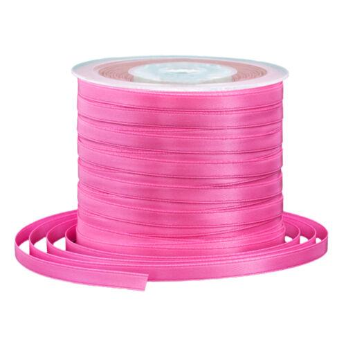 1 Rolle 91 m Doppel Satinband Band Satin 6 mm pink Geschenkband 0,15 €//m