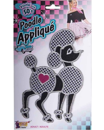 50s Poodle Iron On Applique One Size