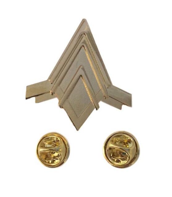 Battlestar Galactica BSG Viper Pilots Wings Rank Metal Pin