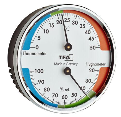 HYGROMETER TFA 45.2040.42 KLIMAKONTROLLE LUFTFEUCHTIGKEIT RAUMKLIMA THERMOMETER