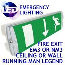 Maintained Non Maintained LED Fire Exit Safety Emergency Light Fitting Bulkhead