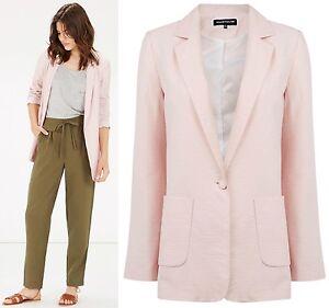 Warehouse-NEW-Soft-Boyfriend-Jacket-in-Pink-Size-6-to-18