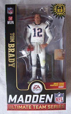 TOM BRADY MADDEN NFL 19 McFarlane Ultimate Team Series 1 Patriots WHITE NEW