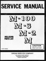 Service Manual for Hammond Organ M100, M-3, M-2, M series on CD
