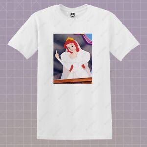 e3d73c38 Ariel F*ck T-shirt Mermaid Princess Graphic Tee Ursula Elsa Short ...