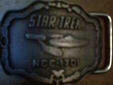 STAR TREK PEWTER NCC-1701 BELT BUCKLE