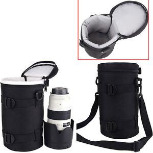 Camara-SLR-Canon-70-200mm-Sony-Nikon-D-lente-bolsa-bolsa-caso-Correa-De-Hombro-Cinturon