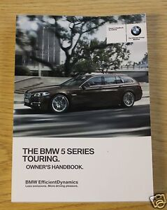 bmw 5 series f11 touring genuine handbook owners manual 2013 2015 ebay rh ebay ie BMW 5 Series Touring Humster3D bmw 5 series touring owners manual uk