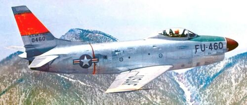 PLS-72096 1//72 North American F-86D Sabre Fighter Full Size Scale Plans 1xA2 p
