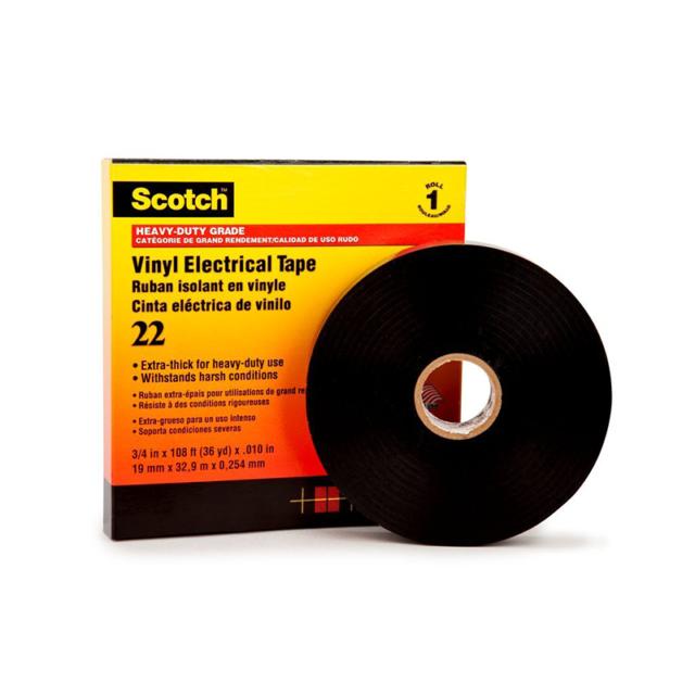3//4 in x 36 yd Scotch Heavy Duty Vinyl Electrical Tape 22