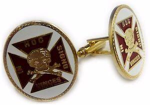 Knights Templar Crusaders Skull Crossbones Masonic Freemason Suit Tie Bar Clip