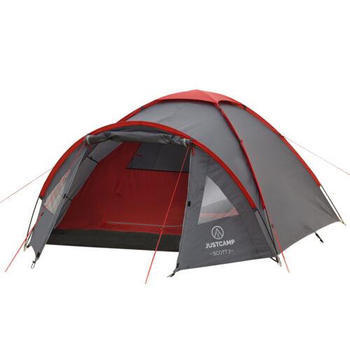 JUSTCAMP Scott 3, 4 Mann Zelt Campingzelt Iglu Kuppelzelt, 2 Größen, wasserdicht