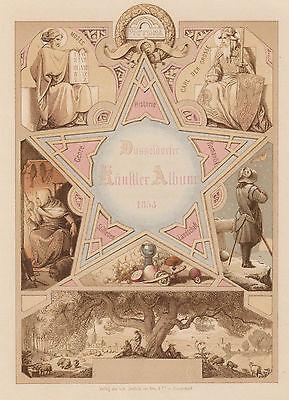 SCHEUREN 1853 - Pictura Historie Romantik Düsseldorfer Künstler Album ORIGINAL