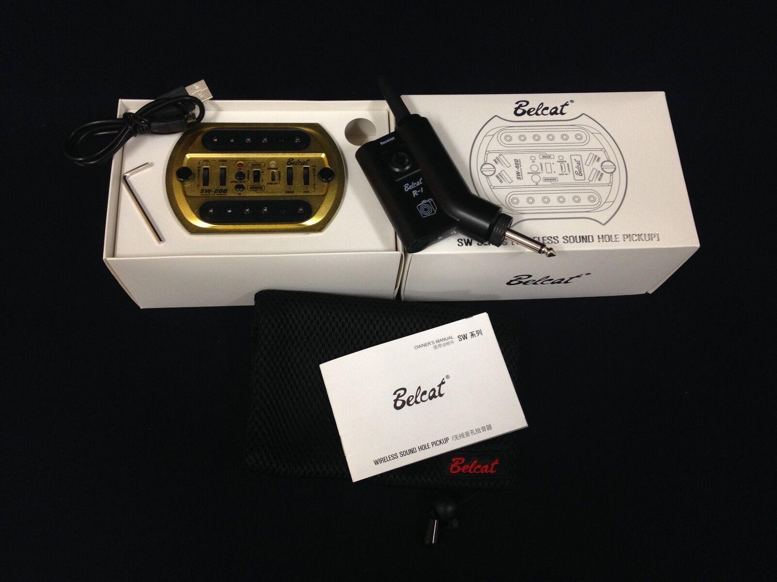 Belcat recogida agujero de de de sonido inalámbrico, Negro oro, Batería Recargable, SW-200 R1 USB.  la calidad primero los consumidores primero