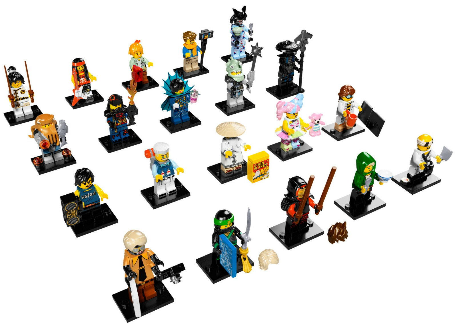 LEGO 71019 MINIFIGURE Serie COMPLETA Lego Minifigure Ninjago Movie 71019
