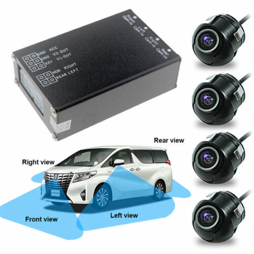 4 Way Cameras Switch System 360 Car View Camera For Rear Front Right Left Camera