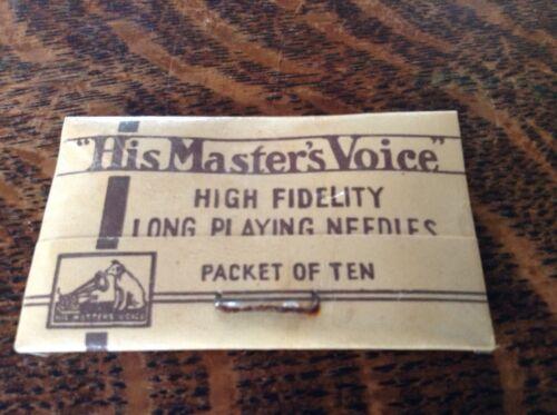 Vintage HMV  /'His Master/'s Voice/' Gramophone Needle Packet Sealed C 1920's