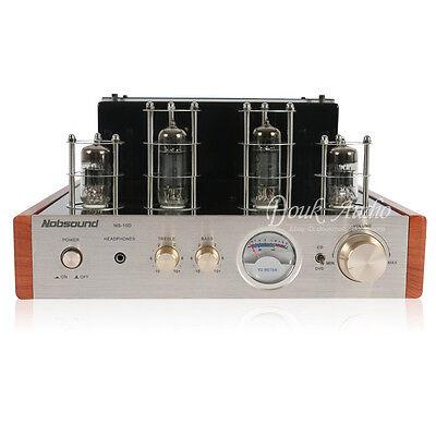 Hi-Fi 50-Watt Class AB Power Amplifier Stereo Hybrid Tube Amp with Headphone Out