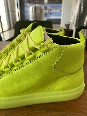 BALENCIAGA ARENA LEATHER HIGH TOP SNEAKERS SHOES SCHUHE TRAINERS DISTRESSED 43 | eBay